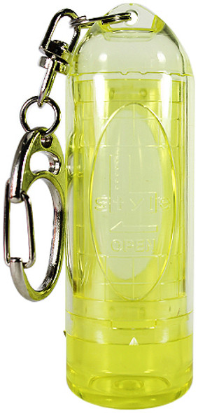 L-Style Lipstock Tip Case / Point Holder - Clear Yellow