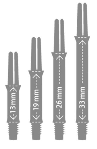 L-Style L-Shaft Straight Locked Clear Blue Dart Shafts - 190