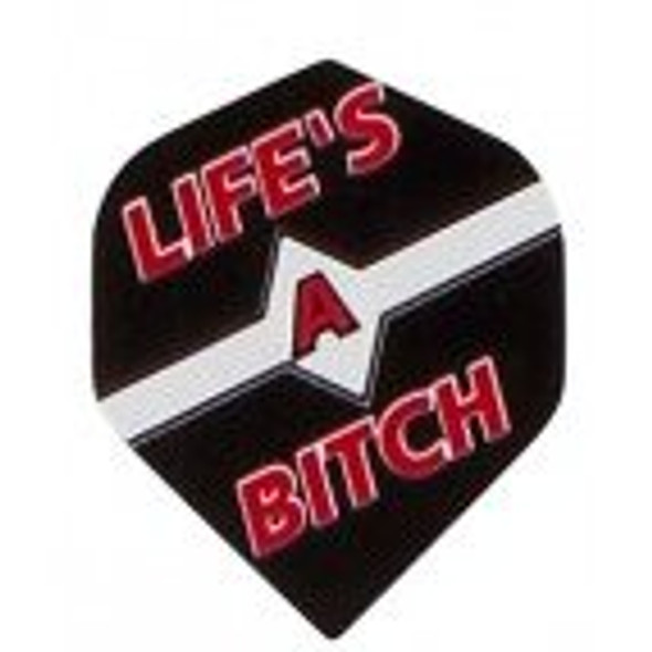 "Supermetronic M096 ""LIFE'S A BITCH"" STANDARD Poly Dart Flights"