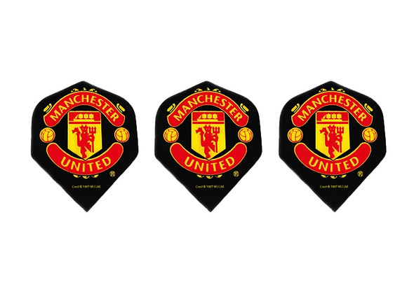 Dart flights with Manchester United football logo