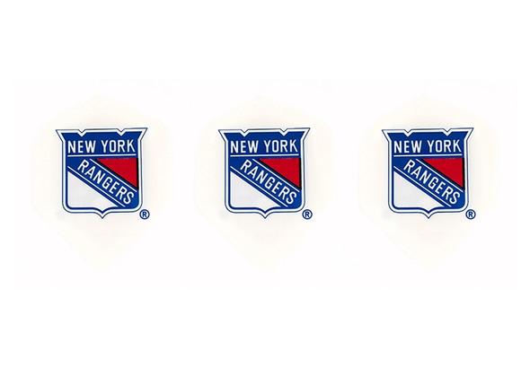 Dart flights with New York Rangers hockey logo