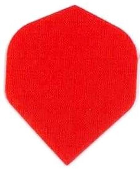 Red nylon dart flights, standard shape