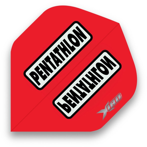 Pentathlon X180 Standard Dart Flights - Red