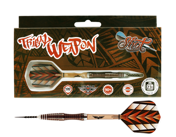 Shot Tribal Weapon 1 Series Steel Tip Darts - 23g