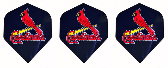 Dart flights with St. Louis Cardinals baseball logo
