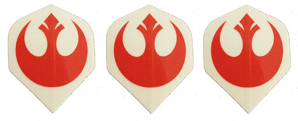 Dart flights with the Star Wars REBELS logo.