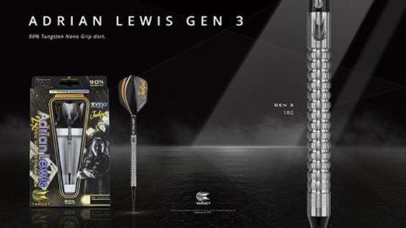 Target Adrian Lewis Gen 3 Steel Tip Darts - 21g