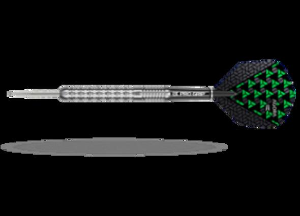 Target Agora A01 Steel Tip Darts - 22g, 90% Tungsten, 100201, Pro Grip Shafts, Vision Ghost Flights