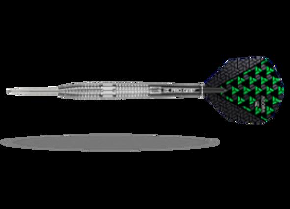 Target Agora A02 Steel Tip Darts - 26g, 90% Tungsten, 100203, Pro Grip Shafts, Vision Ghost Flights