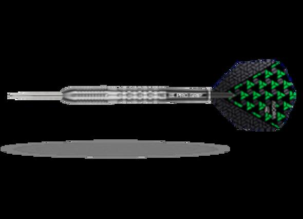Target Agora A03 Steel Tip Darts - 23g, 90% Tungsten, 100205, Pro Grip Shafts, Vision Ghost Flights