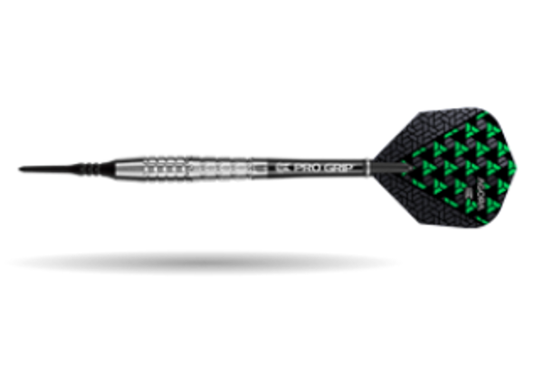 Target Agora A30 2ba Soft Tip Darts - 18g, 90% Tungsten, 100208, Pro Grip Shafts, Vision Ghost Flights, Black Pixel Tip