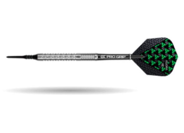 Target Agora A32 2ba Soft Tip Darts - 20g, 90% Tungsten, 100213, Pro Grip Shafts, Vision Ghost Flights, Black Pixel Tip