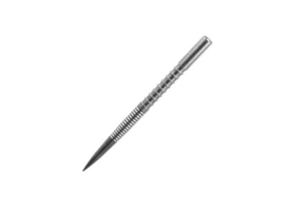 Target Firepoint 32mm Steel Tip Replacement Points - Silver, finger groove, Fire, Point, 100002