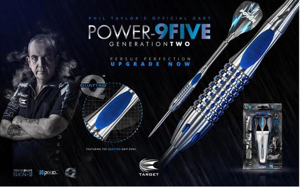 Target Phil Taylor Power 9Five Gen 2 Steel Tip 22g Darts