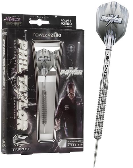 Target Phil Taylor Power 9Zero Steel Tip Darts 24g