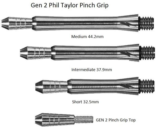 Target Phil Taylor Power Titanium Gen 2 Dart Shafts - Short