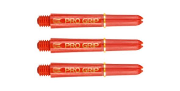 Target Pro Grip Polycarbonate Shafts - Red & Gold Short