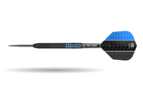 Target Vapor-8 Black Red Steel Tip Darts - 24g - 80% Tungsten, 100438, Pro Grip Shafts, Vision Ghost Flights, Blue, Fixed Point, Vision Ultra Flights