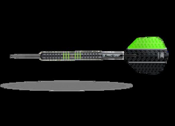 Target Vapor-8 Black Green Steel Tip Darts - 22g - 80% Tungsten, 100441, Pro Grip Shafts, Vision Ghost Flights, Green, Fixed Point, Vision Ultra Flights