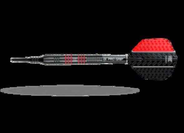 Target Vapor-8 Black Red 2ba Soft Tip Darts - 18g, 80% Tungsten, 100445, Pro Grip Shafts, Ultra Vision Flights, Black Pixel Tip, blue