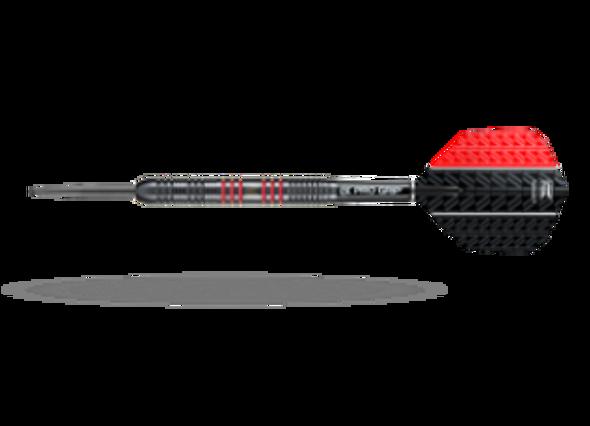 Target Vapor-8 Black Red Steel Tip Darts - 25g - 80% Tungsten, 100440, Pro Grip Shafts, Vision Ghost Flights, Red, Fixed Point, Vision Ultra Flights