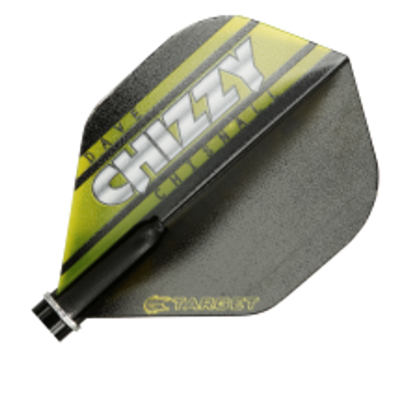 Target Vision Chizzy NO2 Flights, Dave Chisnall, Black, Yellow, Standard, Shape, 117940