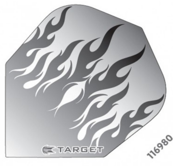 Target Vision Grey Flames Flights - Shape