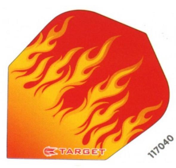 Target Vision Pink Flames Flights - Shape