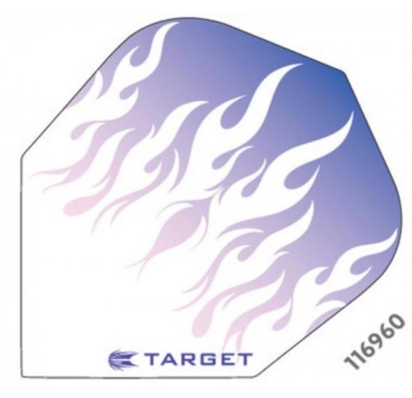 Target Vision Purple Flames Flights - Shape