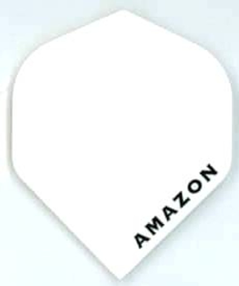 Solid white standard dart flight made by Amazon