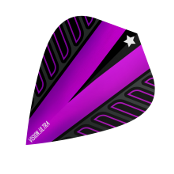 Target Vision Ultra Voltage Rob Cross Kite Dart Flights - Purple, 333400