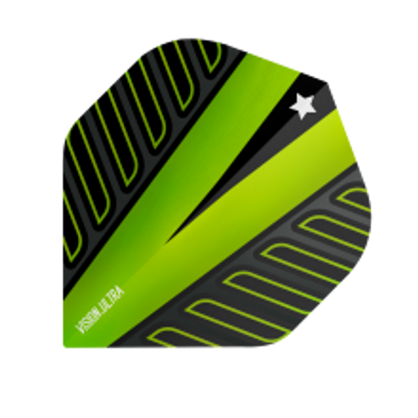 Target Vision Ultra Voltage Rob Cross No. 2 Standard Dart Flights - Lime Green, 333310