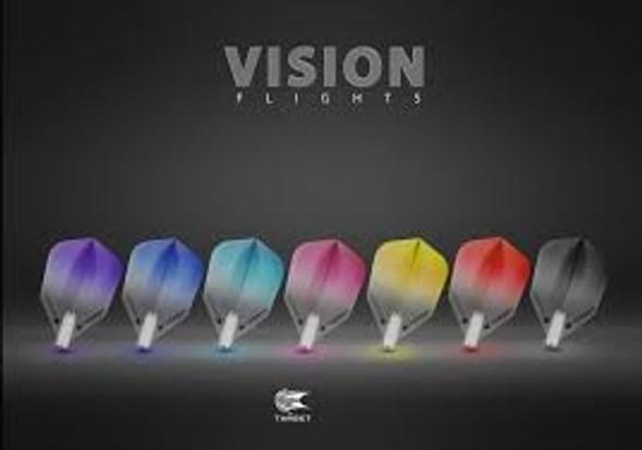 Target Vision Vignette Blue Dart Flights - Shape