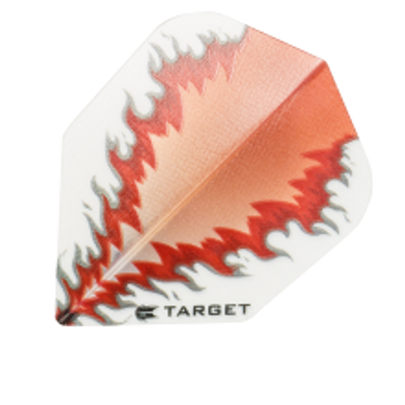 Target Vision White Red Mirror Flame - Shape