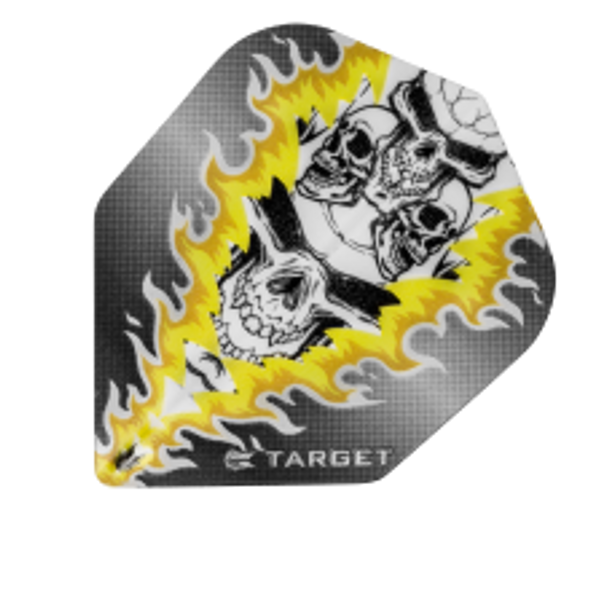 Target Vision Yellow Mirror Flame Skulls - Shape