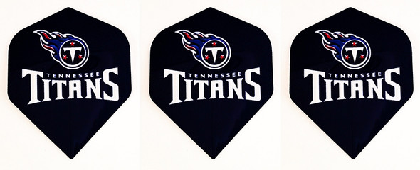 Dart flights with Tennessee Titans football logo
