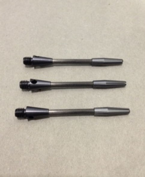 Black titanium dart shafts