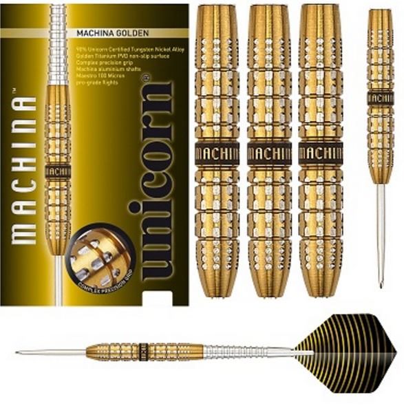 Unicorn Machina Gold Steel Tip Darts - 23g