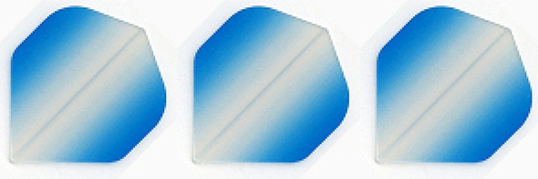 Vignette Poly Standard Dart Flights - Clear to Light Blue
