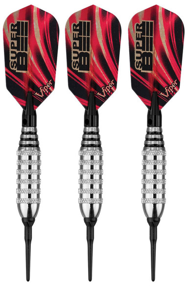 Viper Super Bee soft tip dart with slim flights and silver colored brass barrels