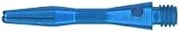 Extra short blue aluminum dart shaft