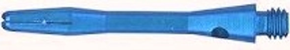 Short blue aluminum dart shaft