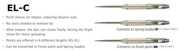 Voks Bullet EL-C Changeable Steel Tip Darts - 22g