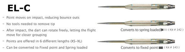 Voks Defender EL-C Changeable Steel Tip Darts - 20g