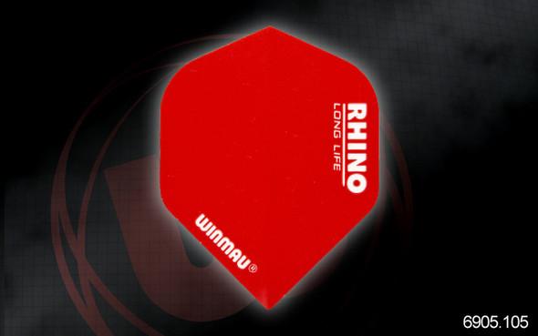 Winmau Rhino Long Life Extra Thick Standard Flights - 6905.105, Red
