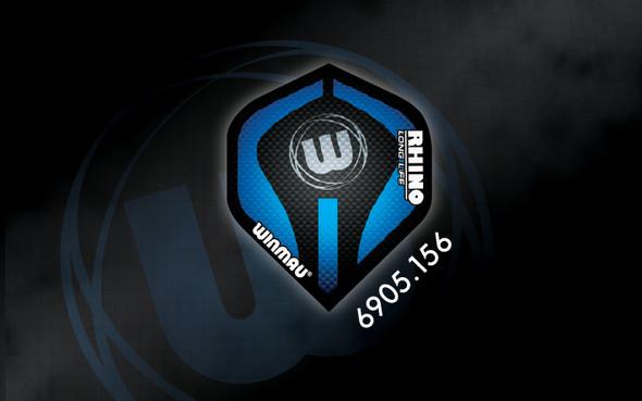 Winmau Rhino Long Life Extra Thick Standard Flights - 6905.156, Black, Blue, W, Logo