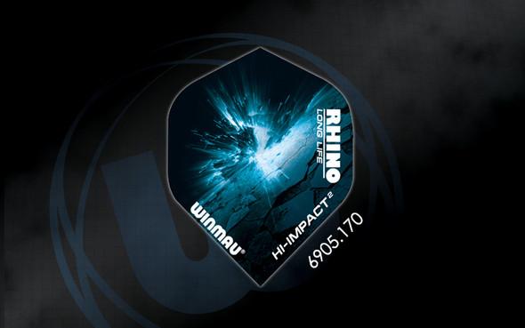 Winmau Rhino Long Life Extra Thick Standard Flights - 6905.170, Impact, Meteor, Black, blue, explosion