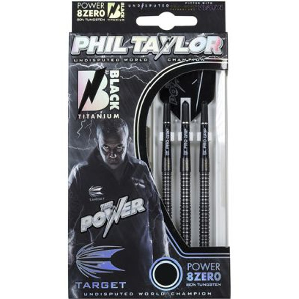 Target Phil Taylor Power 8Zero Black Soft Tip Darts - 19g
