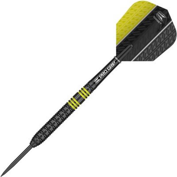 Target Vapor-8 Black Yellow Steel Tip Darts - 24g