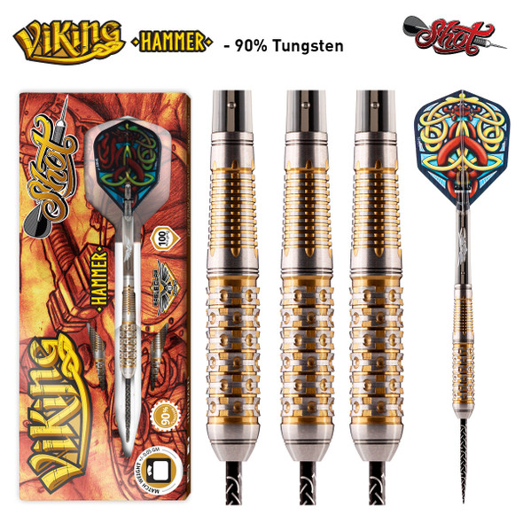 Shot Viking HAMMER Series Steel Tip Darts - 26g